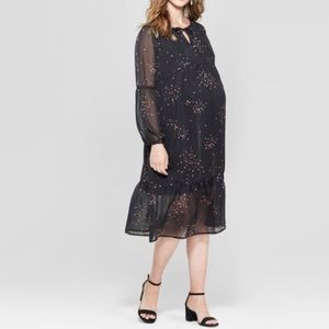 Isabel maternity empire waist star dress gown